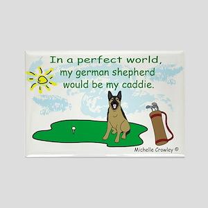 german shepherd Rectangle Magnet