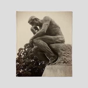 Rodins The Thinker Throw Blanket