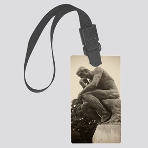 Rodins The Thinker Large Luggage Tag