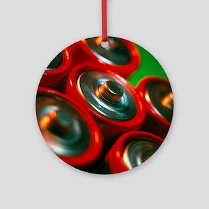 Batteries Round Ornament