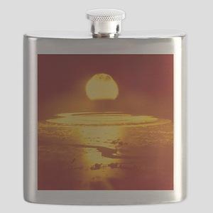 Bikini Atoll atomic bomb explosion 1946 Flask