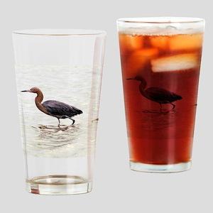 Reddish Egret Wading Drinking Glass