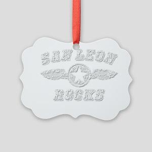SAN LEON ROCKS Picture Ornament