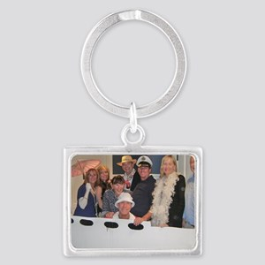Team Club Car Goes Gilligan Isl Landscape Keychain