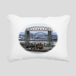 Bridge within a bridge w Rectangular Canvas Pillow
