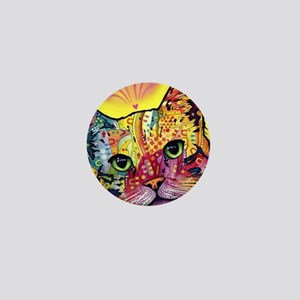 Psychadelic Cat Mini Button