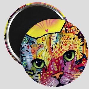Psychadelic Cat Magnet