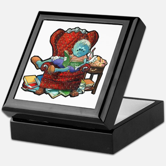 Lil Newt Reading Keepsake Box