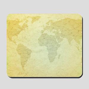 Golden Grungy Map Mousepad