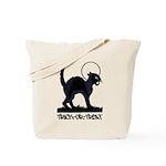 Black Cat Trick-Or-Treat - Tote Bag