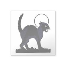 Halloween Black Cat Moon - 3 In. Square Sticker