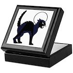 Halloween Black Cat Moon - Keepsake Box