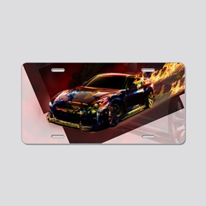 Abstract GTR Aluminum License Plate
