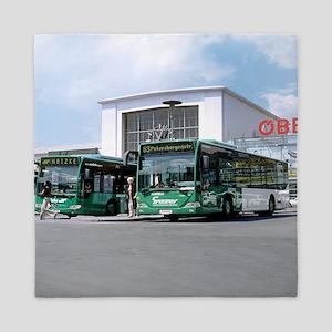 Biodiesel buses, Austria Queen Duvet