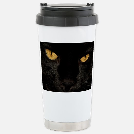 Sexy Black Cat Stainless Steel Travel Mug