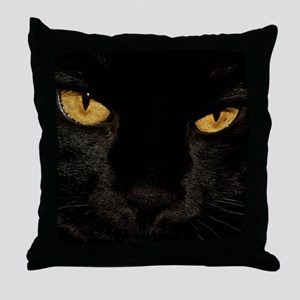 Sexy Black Cat Throw Pillow