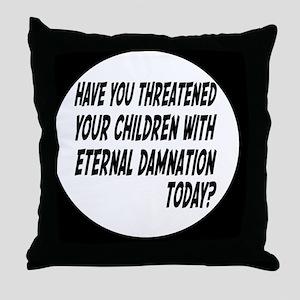 damnationbutton Throw Pillow