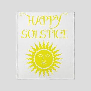 Happy Solstice Throw Blanket