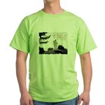 Yes, it really is a GREEN, logo design t-shirt
