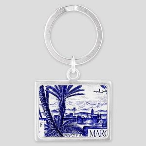1947 Morocco Marrakesh Postage  Landscape Keychain