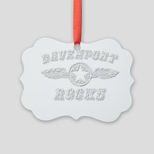 DAVENPORT ROCKS Picture Ornament