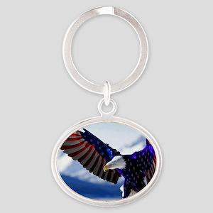 All American Eagle Oval Keychain