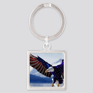 All American Eagle Square Keychain