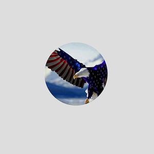 All American Eagle Mini Button
