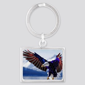 All American Eagle Landscape Keychain