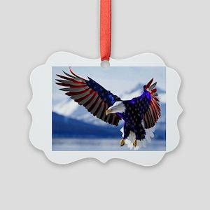 All American Eagle Picture Ornament