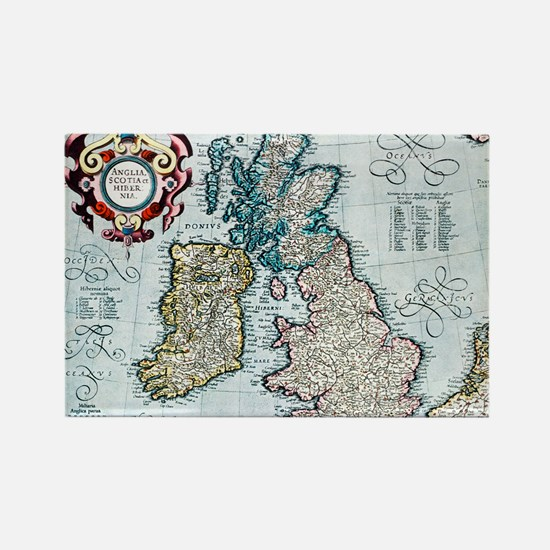 16th century map of the British I Rectangle Magnet