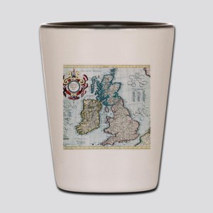 16th century map of the British Isles Shot Glass