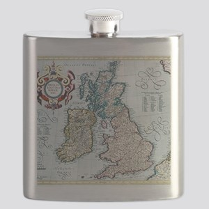 16th century map of the British Isles Flask