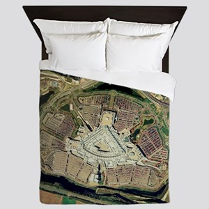 Bluewater shopping centre, aerial imag Queen Duvet