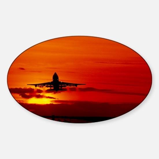 Boeing 747 Sticker (Oval)