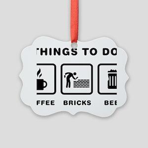 Bricklayer-ABH1 Picture Ornament