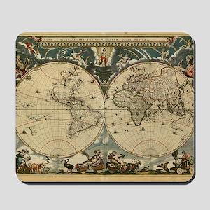 17th century world map Mousepad