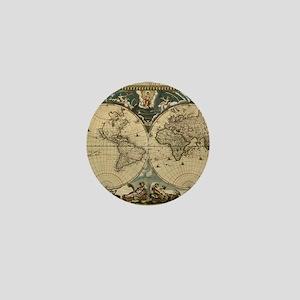 17th century world map Mini Button