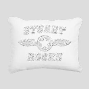STUART ROCKS Rectangular Canvas Pillow