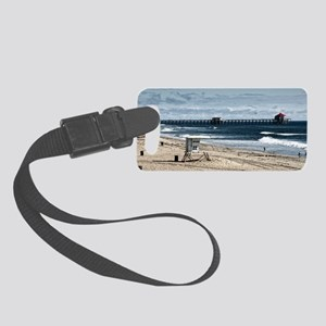 Huntington Beach Pier Landscape Small Luggage Tag