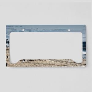 Huntington Beach Pier Landsca License Plate Holder