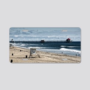 Huntington Beach Pier Lands Aluminum License Plate