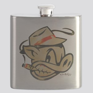 Smokin Pig by Elliott Mattice Flask