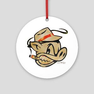 Smokin Pig by Elliott Mattice Round Ornament