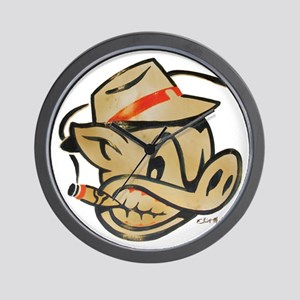 Smokin Pig by Elliott Mattice Wall Clock