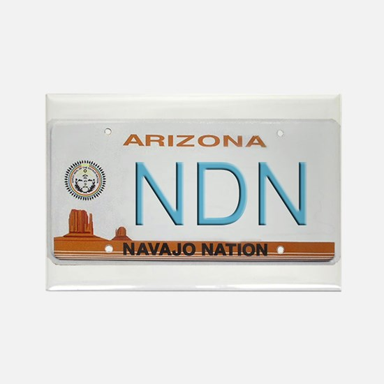 Navajo Nation NDN plate Rectangle Magnet