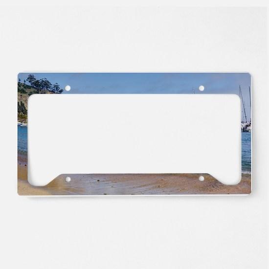 Avalon Harbor Catalina Island License Plate Holder