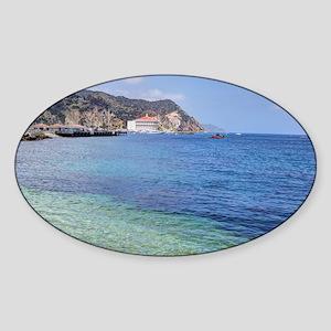 Avalon Harbor Catalina Island Sticker (Oval)