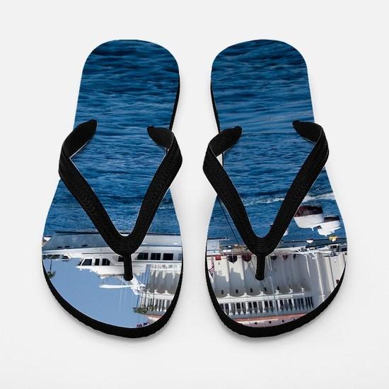 Avalon Harbor Catalina Island Flip Flops