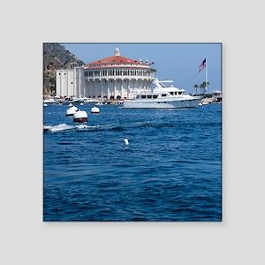 "Avalon Harbor Catalina Isla Square Sticker 3"" x 3"""